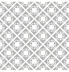 seamless black and white digital pattern vector image