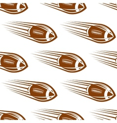 Seamless pattern a speeding rugor football vector