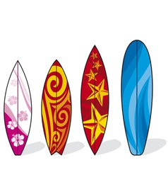 Set of surfboards vector