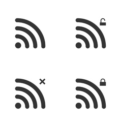 Set Of Wi-Fi And Wireless Icons WiFi Zone Sign vector image