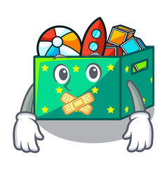 Silent children toy boxes isolated on mascot vector