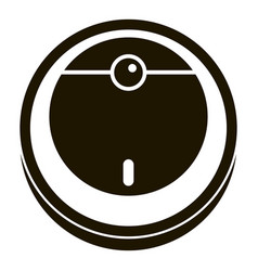 smart robot vacuum cleaner icon simple style vector image
