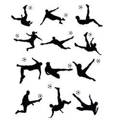 Soccer football player super kick vector