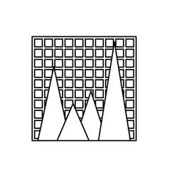 Statistic graph report vector