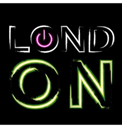 T shirt typography graphics london neon vector