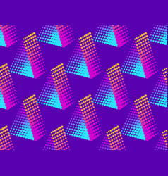 triangle of dots with gradient pop art style vector image