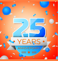 twenty five years anniversary celebration vector image