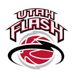 Utah flash logo vector
