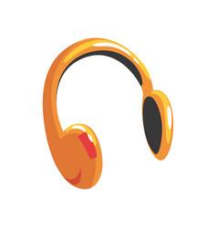 Yellow protective headphones cartoon vector