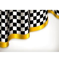 Checkered invitation background vector image