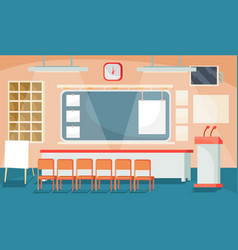 flat of a business interior - vector image