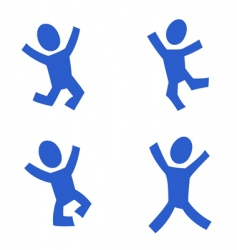 jumping figures vector image vector image