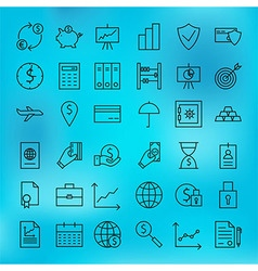 Money Finance Banking and Marketing Line Big Icons vector image
