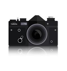retro photo black camera isolated on white vector image