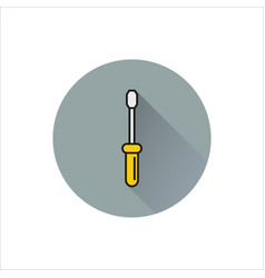 screwdriver icon simple black icon on white vector image vector image