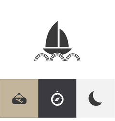 set of 4 editable travel icons includes symbols vector image