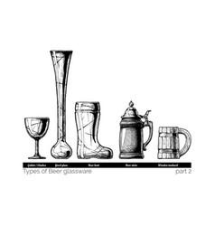 beer glassware vector image