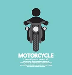 Man Riding A Motorcycles Symbol vector image vector image