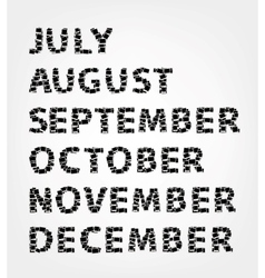 Months of year made from photo frames vector image