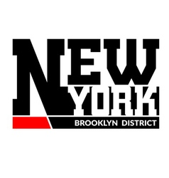 T shirt typography New York Brooklyn vector image vector image