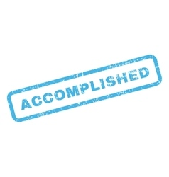 Accomplished Text Rubber Stamp vector image