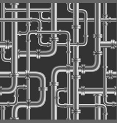 black pipe seamless vector image vector image
