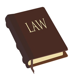 Brown law book vector image
