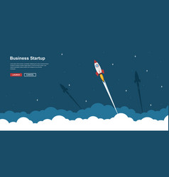 business startup banner vector image