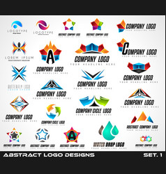collection of creative logos design for brand vector image vector image
