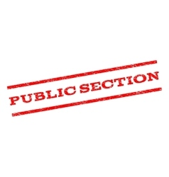 Public section watermark stamp vector