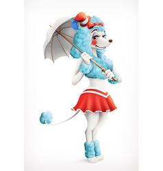 Actress circus poodle cartoon character mesh vector image vector image
