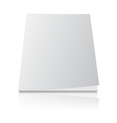 blank magazine template cover on white vector image