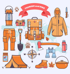 camping and hiking vector image vector image
