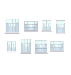 Collection of window frames of various shapes vector image