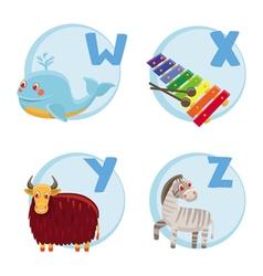 funny cartoon alphabet vector image