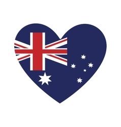heart shape australian flag icon vector image