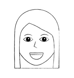 woman happy character female icon vector image