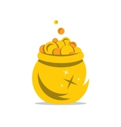A Gold Pot of Money Cartoon vector image