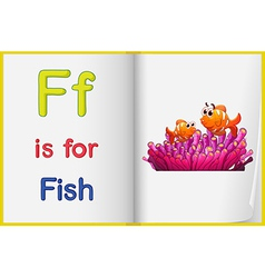 A picture a fish in a book vector