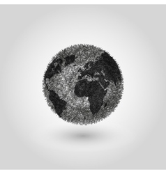 Abstract Globe planet Earth concept global vector