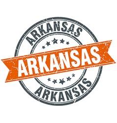 Arkansas red round grunge vintage ribbon stamp vector