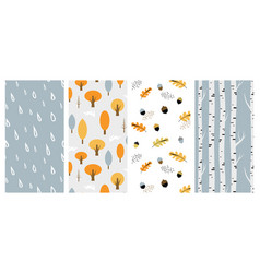 Autumn pattern set perfect for wallpaper gift vector