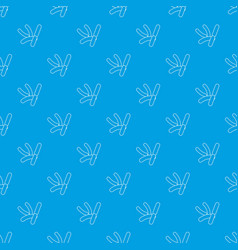 Bacilli pattern seamless blue vector