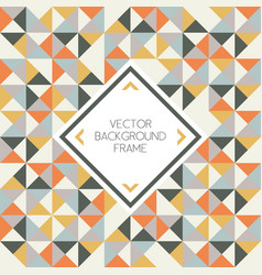background geometric triangle shapes pattern vector image