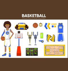 Basketball sport equipment game player garment vector