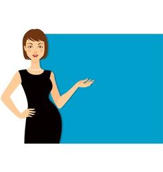 Beautiful woman gesturing vector