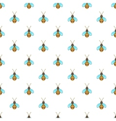 Bee pattern cartoon style vector image