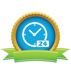 Best gold clock logo vector
