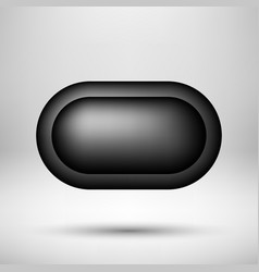 black abstract bubble badge vector image
