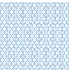 Blue seamless snowflakes pattern snow background vector